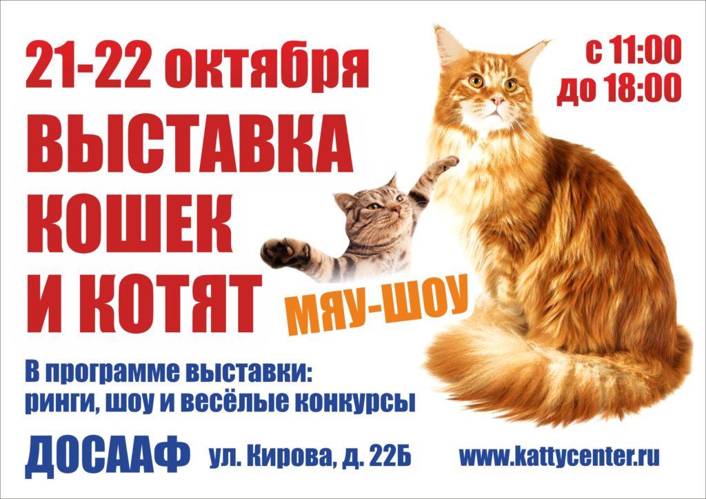 Выставка кошек «Золотая осень»   21-22 октября 2017   ФПЦ КЭТТИ   Смоленск